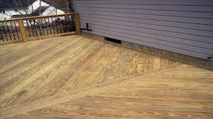 image of painting staining pressure treated lumber