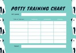 Dog Training Chart Blue Dog Illustration Potty Training Reward Chart