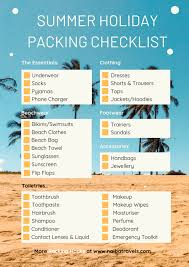 Nalba Travels Your Summer Holiday Packing Checklist