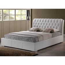 bianca modern tufted white king bed by baxton studio  free