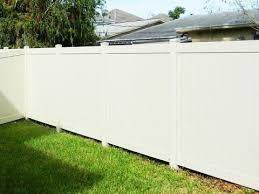 installing vinyl fence on concrete