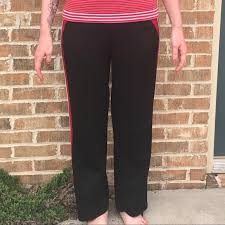 athletic works yoga pants 60 off athletic works pants black red striped yoga poshmark