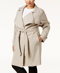 michael kors plus size d trench 179