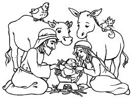 Small Picture Baby Jesus in a Manger in Nativity Coloring Page Color Luna