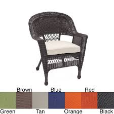 Espresso Wicker Chair Cushion Set of 4 Free Shipping Today