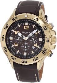 amazon com nautica men s n18522g nst gold tone stainless steel amazon com nautica men s n18522g nst gold tone stainless steel watch nautica watches