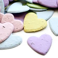 Biodegradable Paper With Flower Seeds Heart Shaped Plantable Confetti Pastel Mix Plantable Eco Confetti