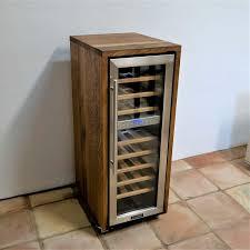 Exklusiver 2 Zonen Weinkühlschrank Mit Fassholz Von Alten Weinfässern Eiche Ebay