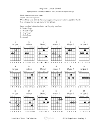 Guitar Chord Chart Template Excel Chord Archives Page 11 Of 12 Pdfsimpli