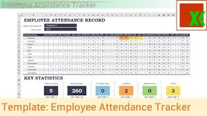 Attendance Tracking Template Excel Template Employee Attendance Tracker YouTube 1