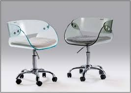 clear office desk. Clear Desk Chair Lucite Enchanting Cream Faux Leather Office M