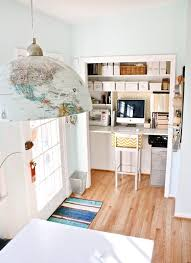 small space office solutions. source: apartment therapy small space office solutions