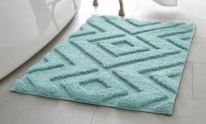 incredible 17 x 24 bath rug with lilah 17x24 100 microfiber luxurious bath rug aqua groupon