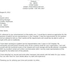 Download Sample Cover Letter For Patient Service Representative