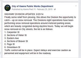 Pre Storm Social Media Postings The City Of Keene Int The