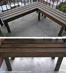 Diy Outdoor Wood Bench Smart Diy Solutions For Renters Wood Patio Bench