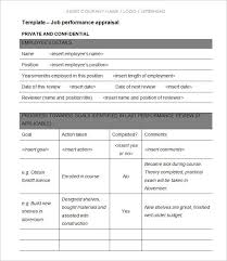 evaluation form templates 9 yearly appraisal form templates word excel pdf templates