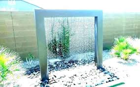 small wall fountain solar outdoor waterfall backyard water features landscape ideas courtyard feature designs hanging mounted