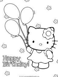 Free hello kitty coloring pages for you to color online, or print out and use crayons, markers, and paints. Hello Kitty Birthday Coloring Pages To Print Hello Kitty Colouring Pages Hello Kitty Coloring Kitty Coloring