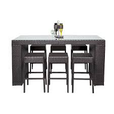 Tk classics belle 7 piece wicker bar height patio dining set walmart com