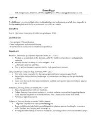 Sample Nanny Resume Cover Letter Resume Pinterest Resume