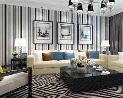 Us 342 24 Offbeibehang Tapete Für Wände 3d Moderne Schwarz Weiß Streifen Wandbild Schlafzimmer Wohnzimmer Esszimmer Streifen Installiert 3d