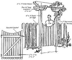 Small Picture Brilliant Garden Gate Plans Blueprints For A M To Design Inspiration