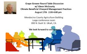 climate beneficial vineyard management practices round table discussion