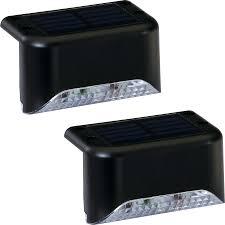 led deck rail lights. Portfolio 2X 2-Light Black Solar LED Railing Light Kit Led Deck Rail Lights I