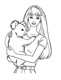 Small Picture Barbie Coloring Book Games Coloring Pages