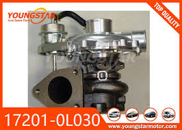 CT16 Auto Turbocharger 17201-0L030 , TOYOTA Engine Turbocharger 2KD ...