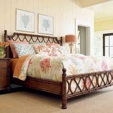 caribbean bedroom furniture. Bali Hai Island Breeze Rattan Bed In Caribbean Sunset Bedroom Furniture