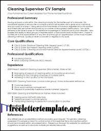 Cleaner Resume Examples Cleansing Supervisor Pattern Cleaner Resume Classy Cleaner Resume