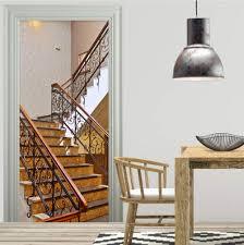 Stairway Wallpaper Design Amazon Com Fifikoj 3d Door Sticker Classic Corridor Marble