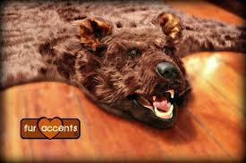 fake bear skin rug with head bear skin rug w head 5 x 6 taxidermy alternative fake bear skin rug with head