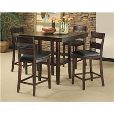 standard furniture pendwood 5 piece counter table and stool set