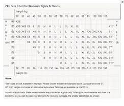 Cw X Compression Size Chart