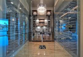 glass enclosed wine cellar contemporary luxury home