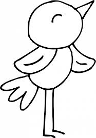 Baby Sparrow Birds Coloring Pages Bird Sheets Animal Tweety Cute ...