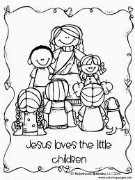 Jesus Loves The Little Children Coloring Pages Printable with ...