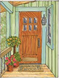 open front door illustration. Interesting Door Drawn Door Front Throughout Open Front Illustration A