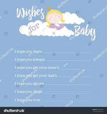 Wishes For Baby Template Baby Shower Card Template Wishes Baby Stock Vector Royalty Free
