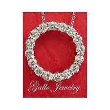 diamond circle of love pendant necklace