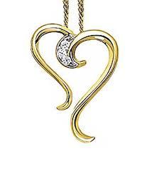 sanskruti appealing heart shaped diamond pendant