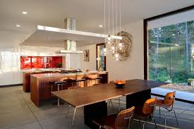 lighting over dining room table. Clear Glass Globe Shade Pendant Lighting Over Wooden Dining Set In Room Trends Table H