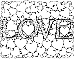 Love Coloring Page For Adults In