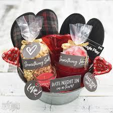 valentine s day date night in gift basket idea