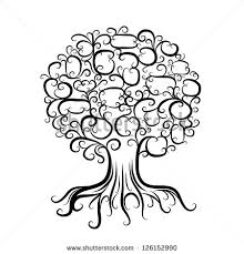 Small Picture Page Coloring Book Lace Tree Stock Vector 374763751 Shutterstock
