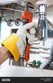 sanitary works plumbing work sanitary engineering image photo bigstock