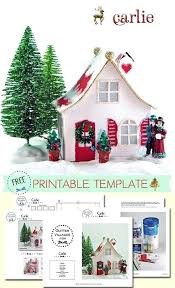 christmas house template christmas house template
